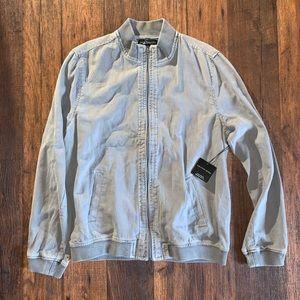 Saks Fifth Avenue   Linen Varsity Jacket Size L